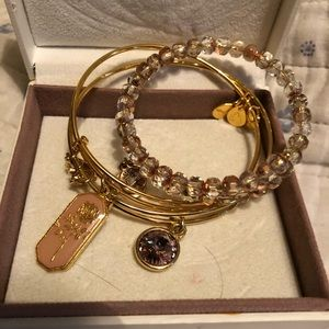 Alex and Ani- Gold group of 4